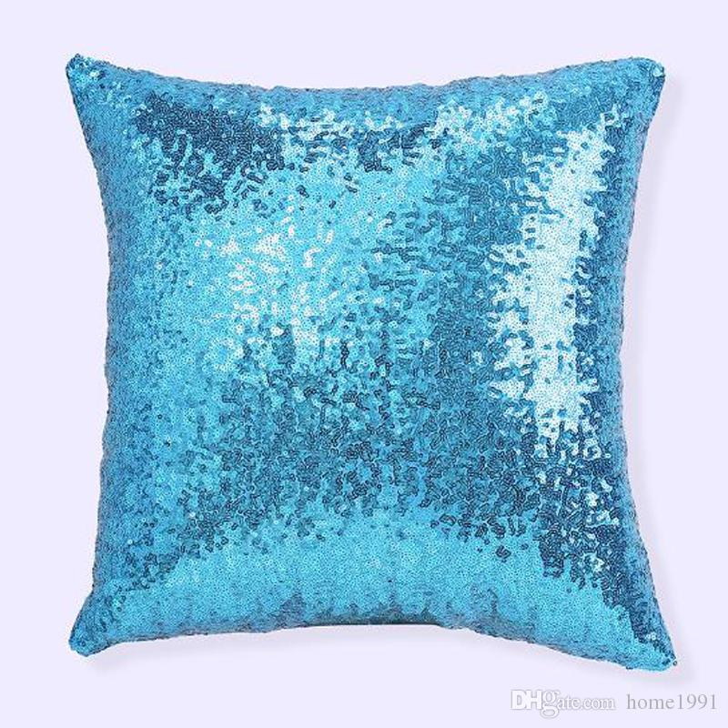 New Household Sequins Pillowcase Hotel Sofa Pillow Pillowcase Solid Color Car Coffee House Decorative Cushion Covers