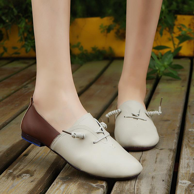 3064db8117 2018 Spring Autumn New Women s Shoes Leisure Comfortable Flat Bean ...
