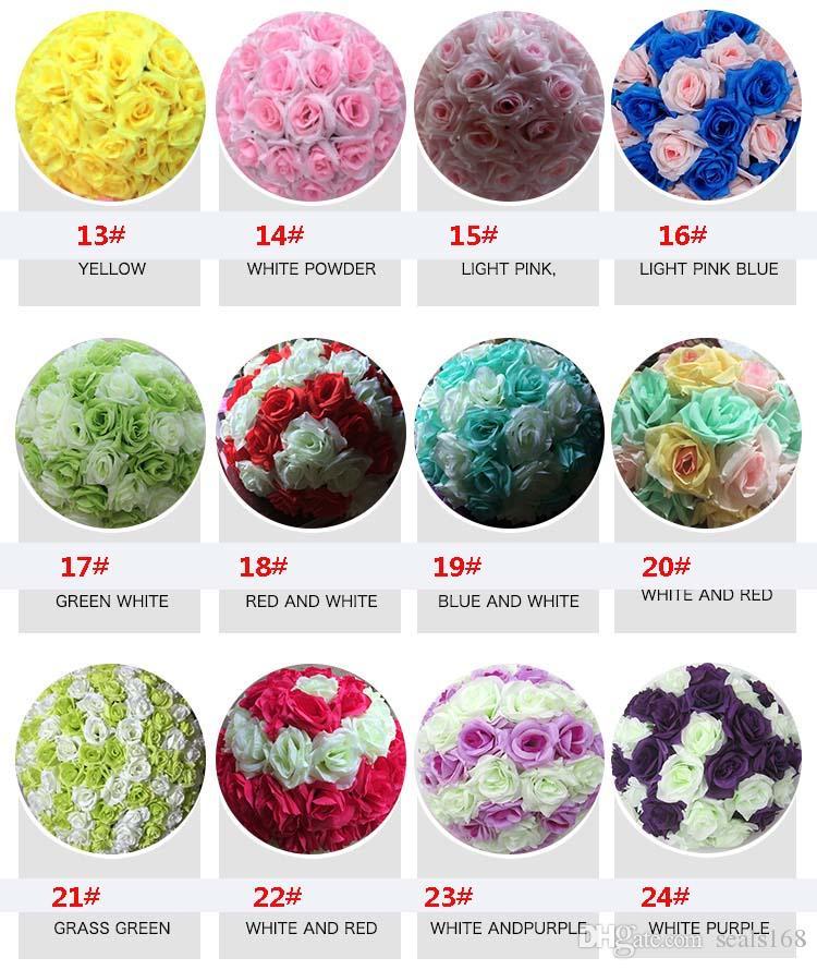 12 pulgadas de seda de la boda del partido para la flor de la flor artificial se besa bola bola de Rose jardín de mercado de la decoración HH7-439