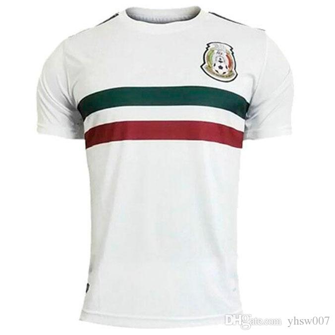 56c19b453cd 2018 World Cup Mexico Away White Soccer Jersey Mexico Away Soccer ...