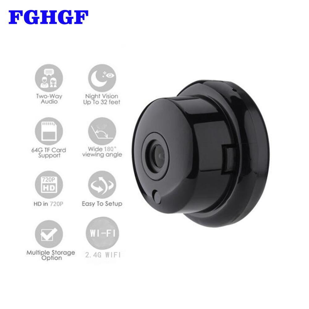 FGHGF 720P Wireless Mini Camera 2 4G Wifi Camera Support Mobile View Motion  Detector And Alarm Wifi Up to 64G App YOOSEE