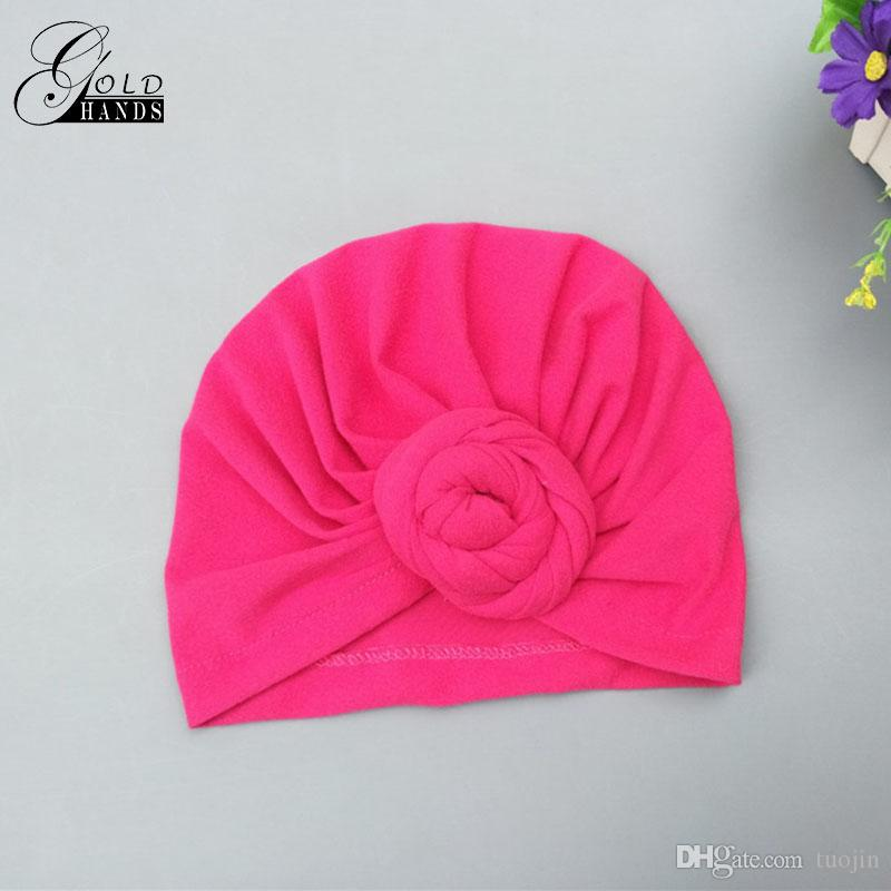 Baby Snails Knotted Caps Newborn Fashion Indian Hats Kids Cute Jumper Beanies Solid Cotton Baby Accessories