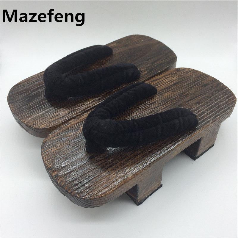 674cba8e3d Compre Tamancos Japoneses Cosplay Sandálias De Madeira Sandálias Casal  Grosso Sola Tamancos Mulheres Sapatos Moda Chinelos De Wearbag