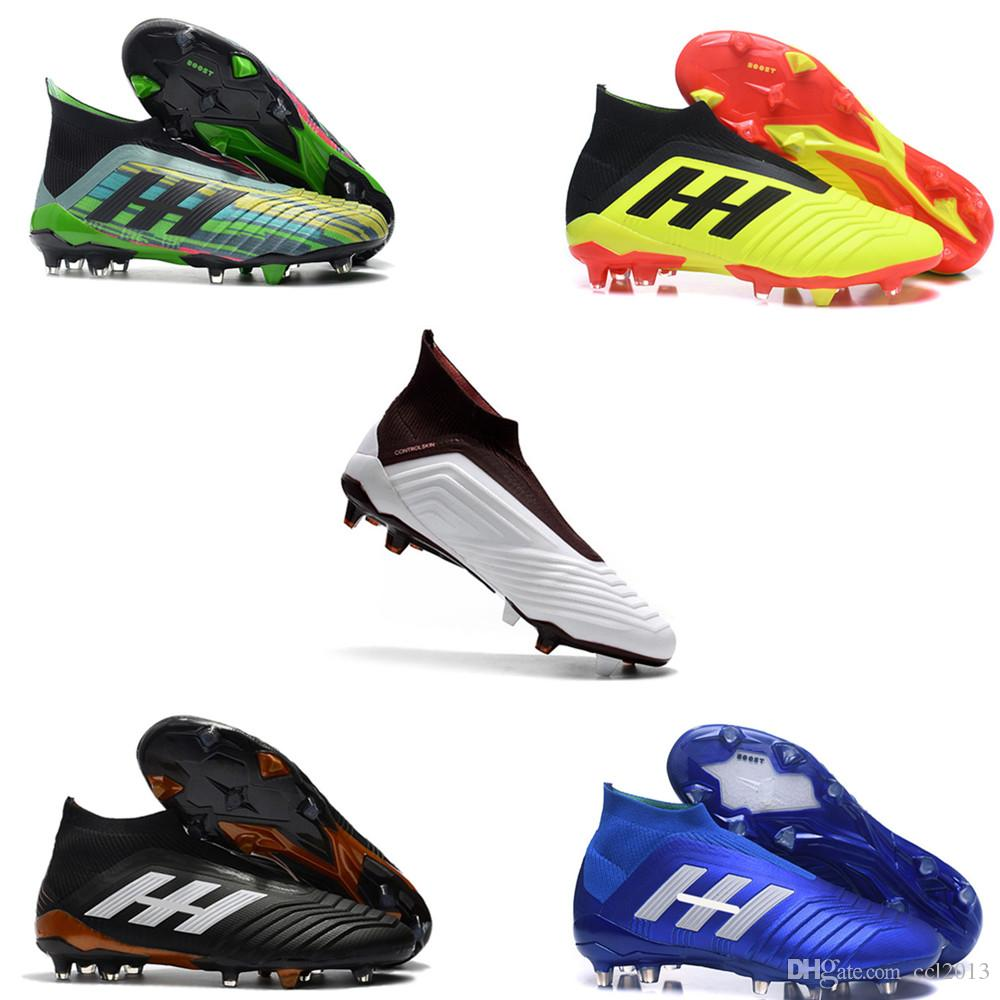 2019 2018 Lastest Black Brown Soccer Cleats Messi Predator 18+ And ... bd15fcd24