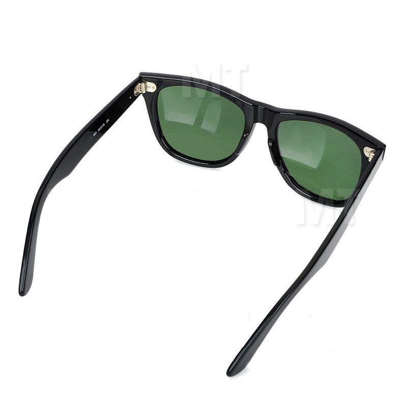 0cc37914d6 Compre Alta Calidad Tablón Negro Gafas De Sol Lente De Cristal Marco Negro  Verde Lente Tablón Gafas De Sol Playa Gafas De Sol Moda Wayfarers Gafas De  Sol ...