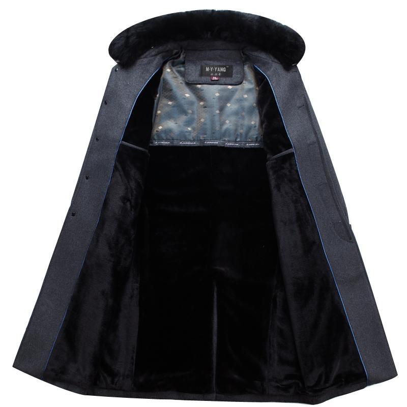 Mu Yuan Yang X-Long Men' s Wool Blend Coats Winter Business Casual Wool Coat Men Jacket Plus Size XXXL XXXXL Cashmere Clothing