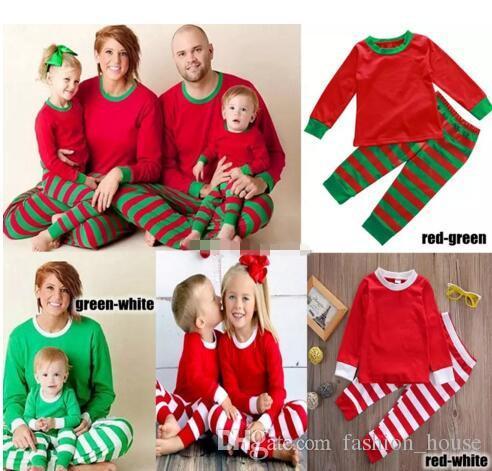44cbd60de4 Xmas Kids Adult Family Matching Christmas Deer Striped Pajamas Sleepwear  Nightwear Pyjamas Bedgown Sleepcoat Nighty Choose Free B11 Christmas Pajamas  For ...