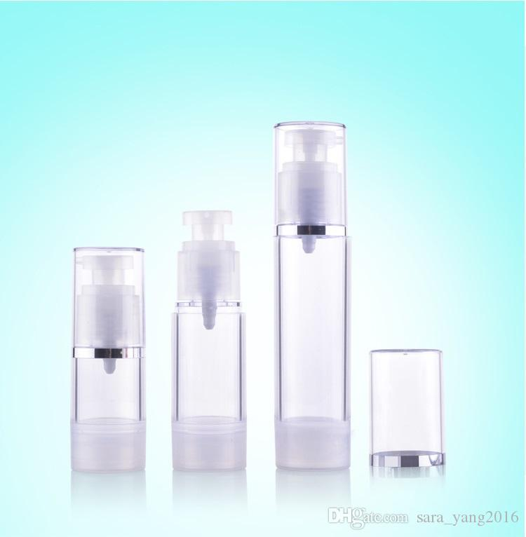 15ml 30ml 50ml Cream Airless Bottle Clear AS Plastic Lotion Sub-bottling With Vacuum Pump Serum Bottle Sample Divide Bottle wen5428