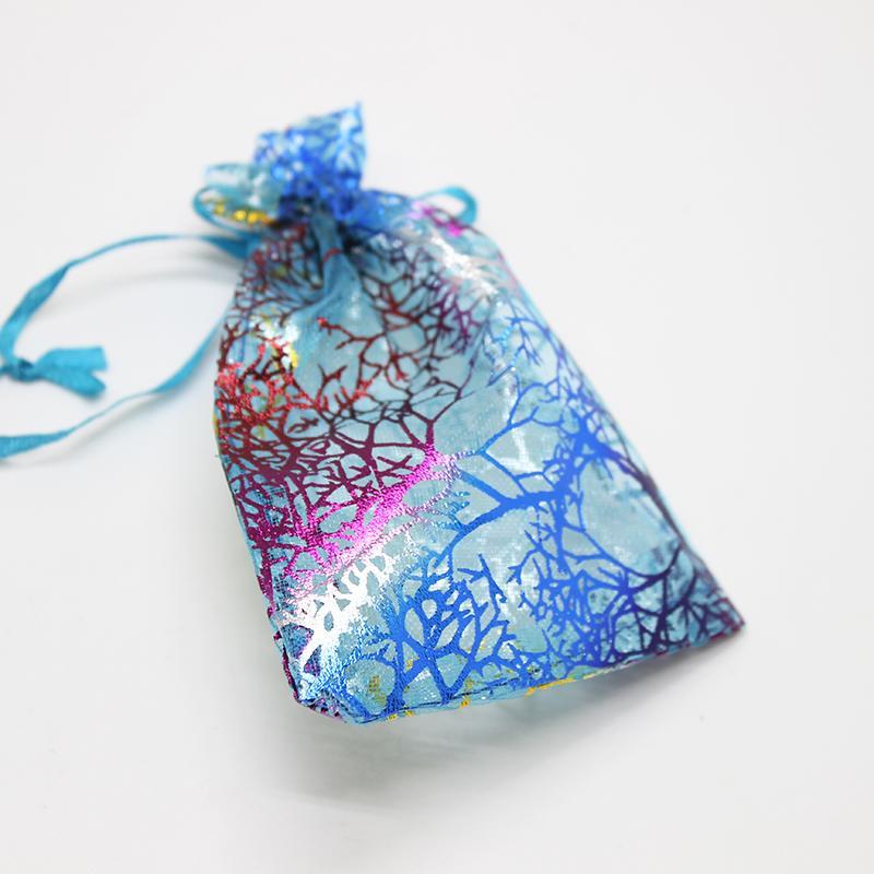 wholesale Organza Bags White Coralline Custom Jewelry Tea Packaging Bags Organza Wedding Gift Bags