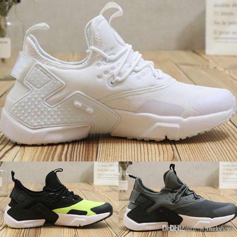 f41e0afa34f Compre Nike Huarache Nike Nmd TN Vapormax Off White Adidas Supreme Vans Air  Huarache 6 Homens Tênis Baratos Preto Branco Preto Tênis Mens Huaraches VI  Botas ...
