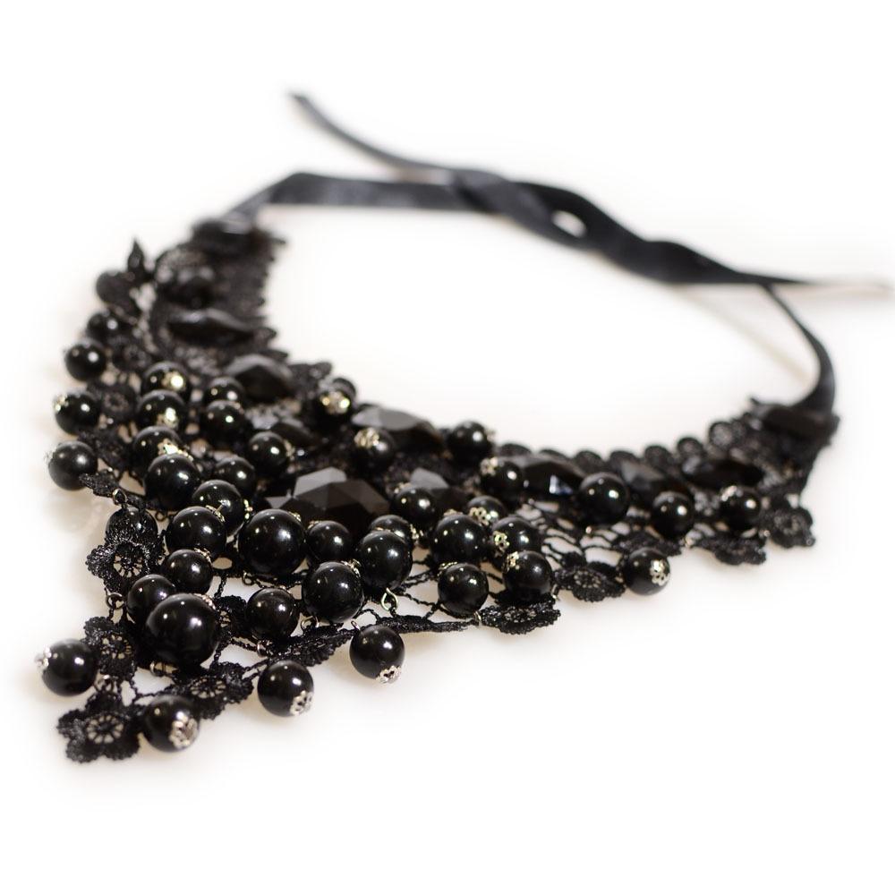 Vintage Frauen Halsband Maxi Opulente Halskette Spitze Perlen Halsketten Schmuck Geschenke CX17