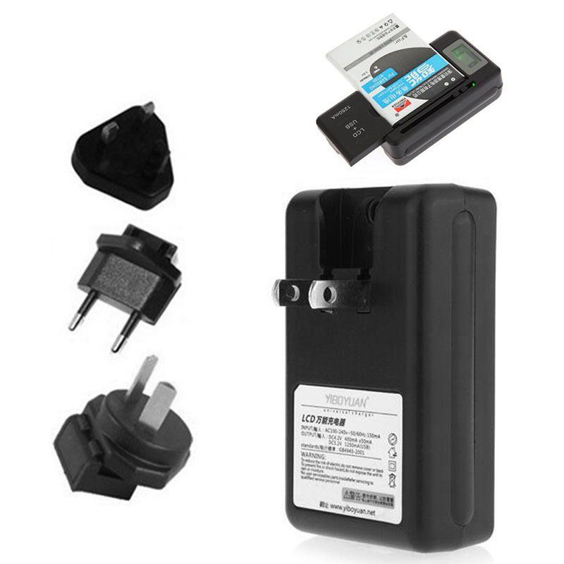Universal-LCD-Bildschirm USB-Wechselstrom-Telefon-Batterie Li-Ionhauptwand-Dock-Reise-Ladegerät für Samsung-Galaxie S3 S4 S5 Note4 Nokia, Huawei-Mobiltelefon