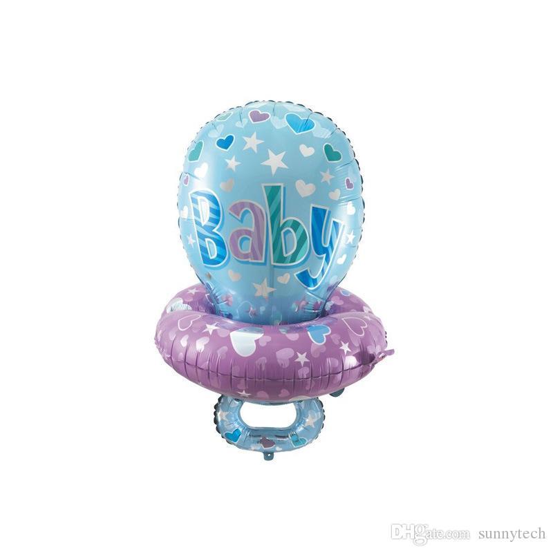 Big Cute Baby Chupete Pezón Foil Globos para Niños Baby Shower Cumpleaños Diseño Decoración Del Partido Globos Regalos LZ1739