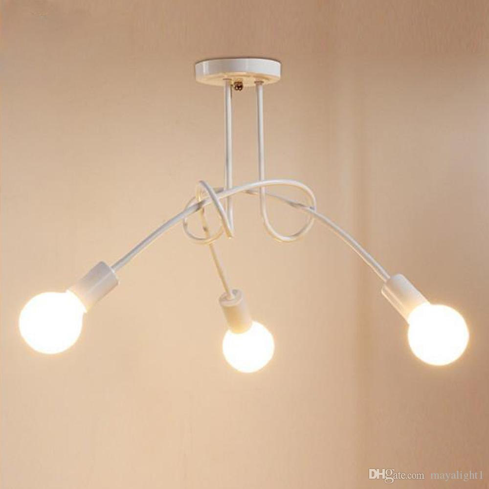 Großhandel Led Plafondlamp 3 Heads Amerikanischer Stijl Retro ...