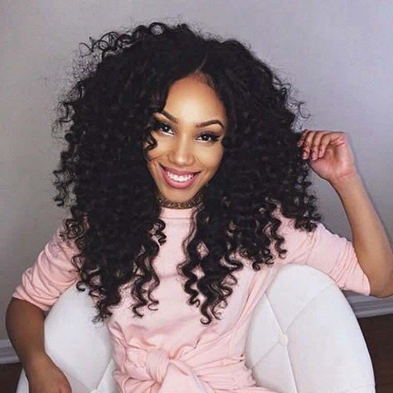 Parrucche dei capelli umani brasiliani malesi Parrucche anteriori ricci crespi ricci crespi con nodi candeggiati Parrucche piene del merletto naturale