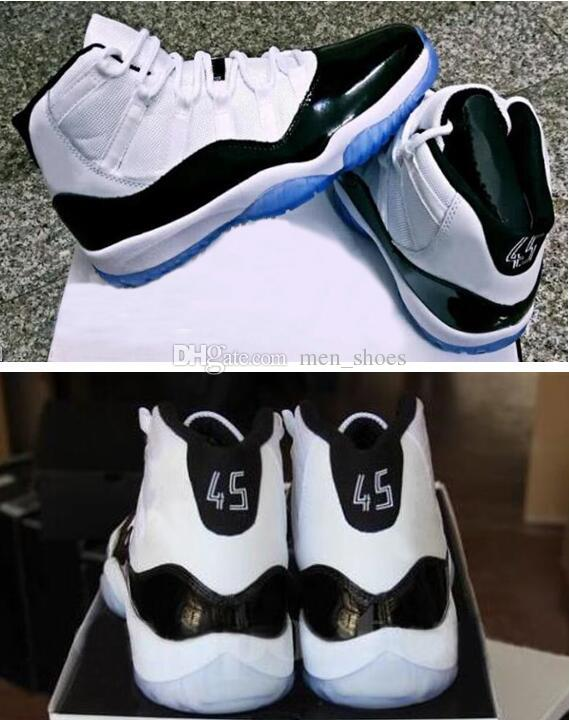 2018 New 11 Concord 45 White Black Basketball Shoes Men Women 11s Concords  45 Sneakers High Quality With Shoes Box Basketball Shoes For Sale Basketball  ... 401cf9ed2c