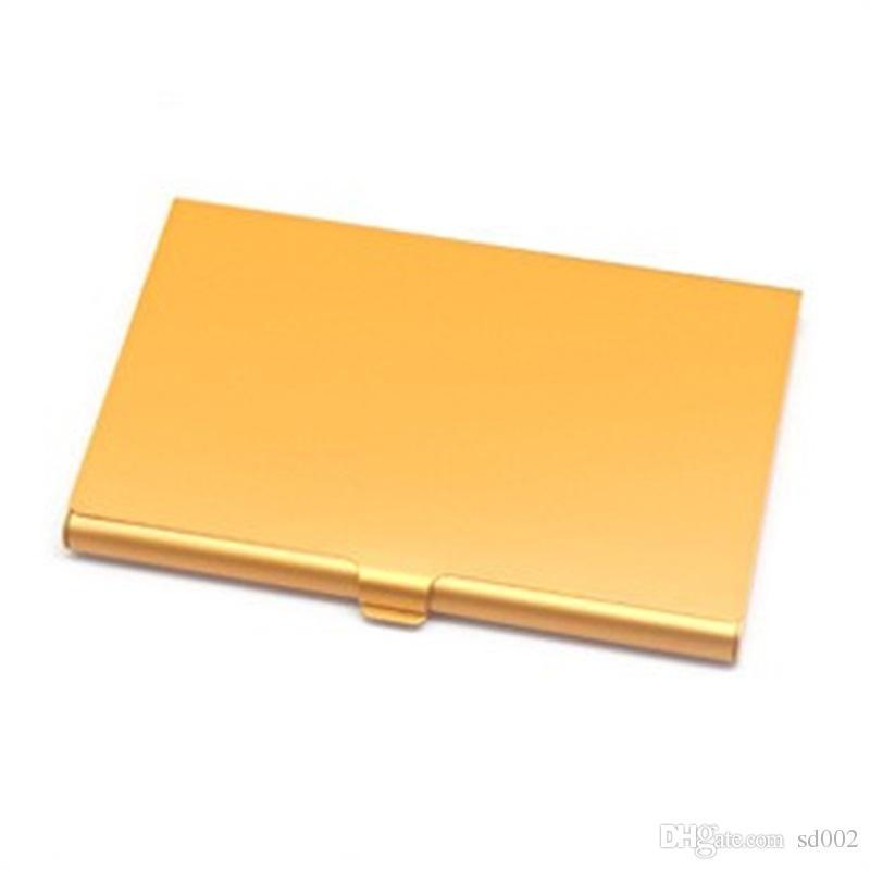 Creative Métal Carte De Visite Fichiers Cas Portable En Alliage D'aluminium Titulaire de La Carte Fournitures De Bureau Fournitures Multi Couleur 3tj C R