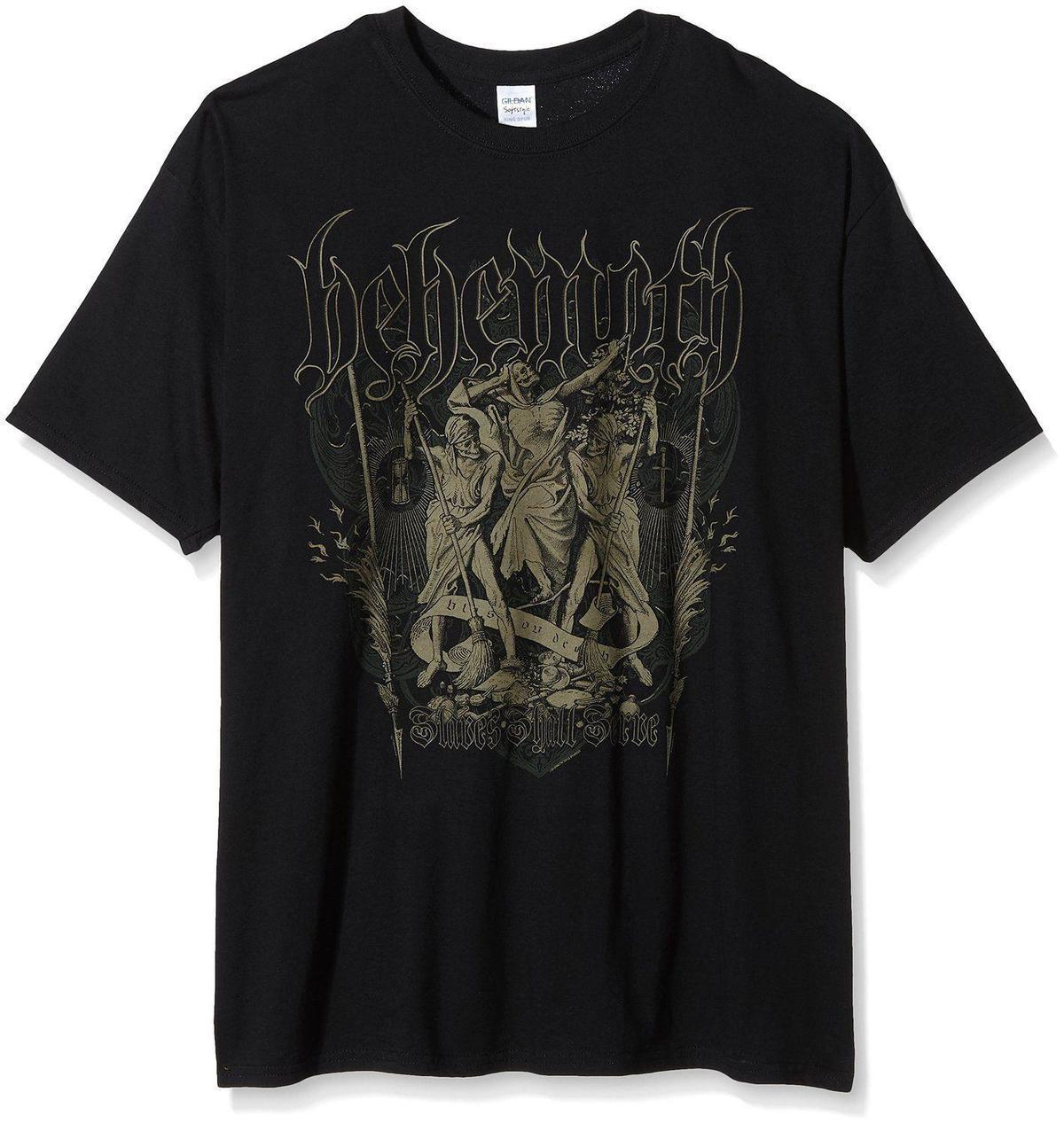 Behemoth Slaves Shall Serve Front Back Print T Shirt Unisex Taille
