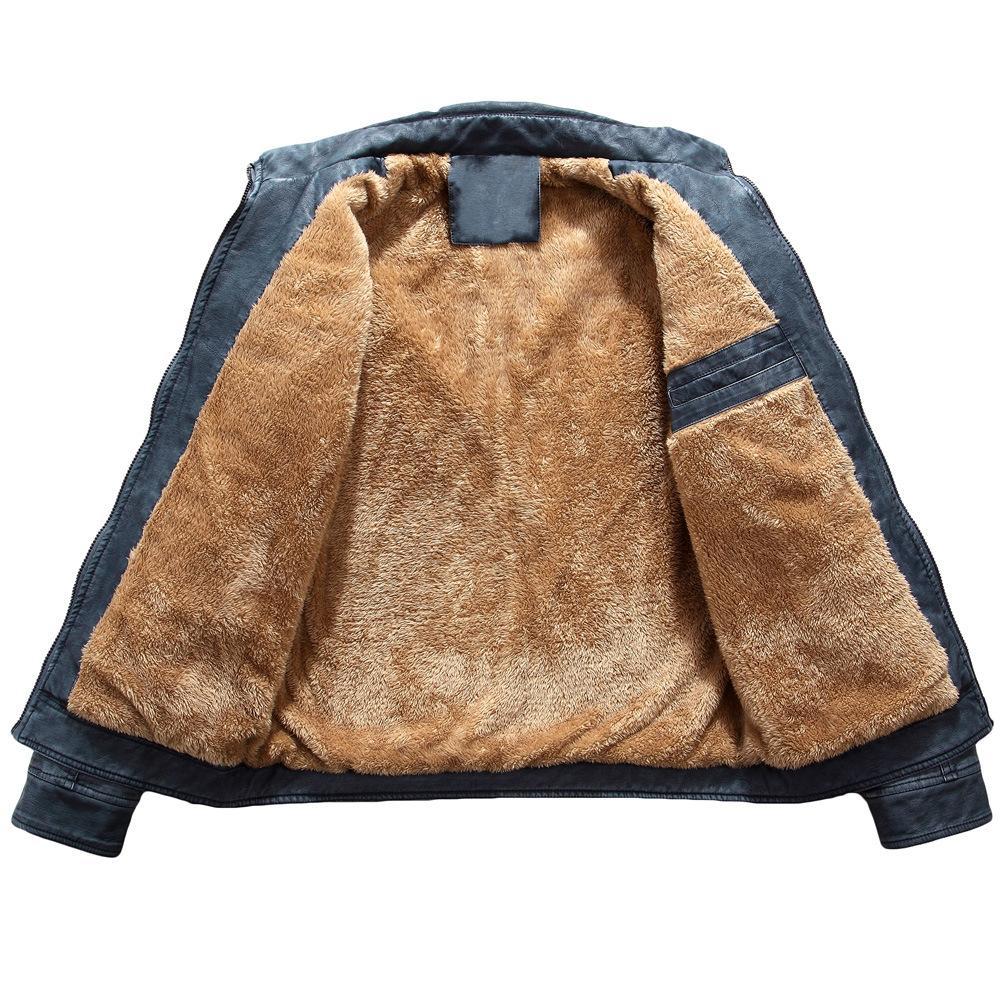 Мужчины куртки куртки куртки и пальто 2017 куртка мужчины тонкий теплый мужской промывают кожа мотоцикл байкер куртки стоя зимнее пальто мужской