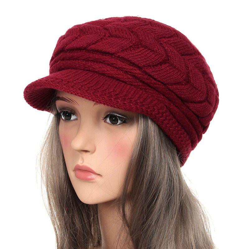 c9265667ecc Winter Beanies Knit Women S Hats Winter Hats For Women Ladies Beanie Girls  Skullies Caps Bonnet Femme Wool Warm Hat 2018 Baseball Cap Slouchy Beanie  From ...