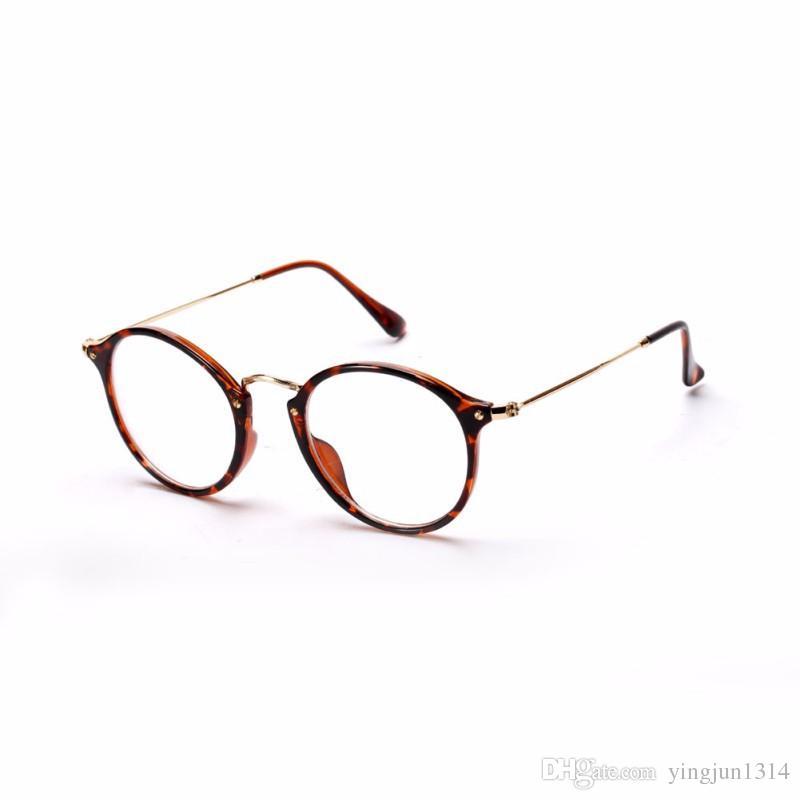 Mujeres al por mayor de los hombres de la vendimia marcos redondos de las gafas anteojos ópticos retros del marco anteojos de las gafas envío libre
