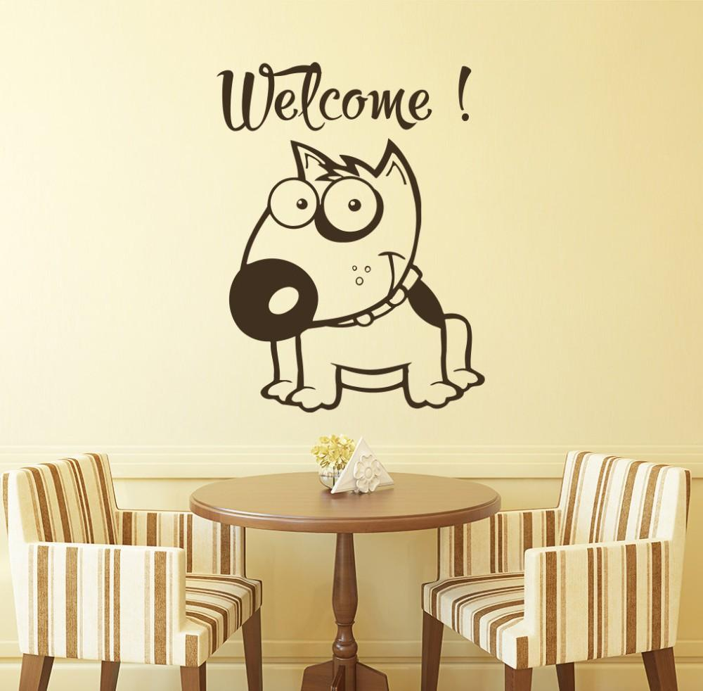 Children Bedroom Home Decor Wall Art Decoration Funny Face Cute Dog ...