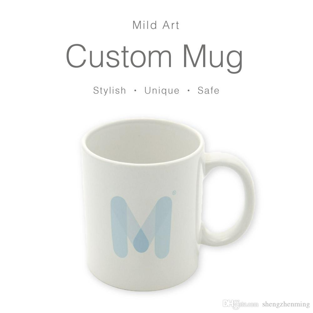 abc0f462775 Custom Ceramic Coffee Mugs Set Blank Water Tea Cups Gifts Beer Creative  Photo Print Black White Sublimation Personalized Kitchen Accessories Large  Travel ...