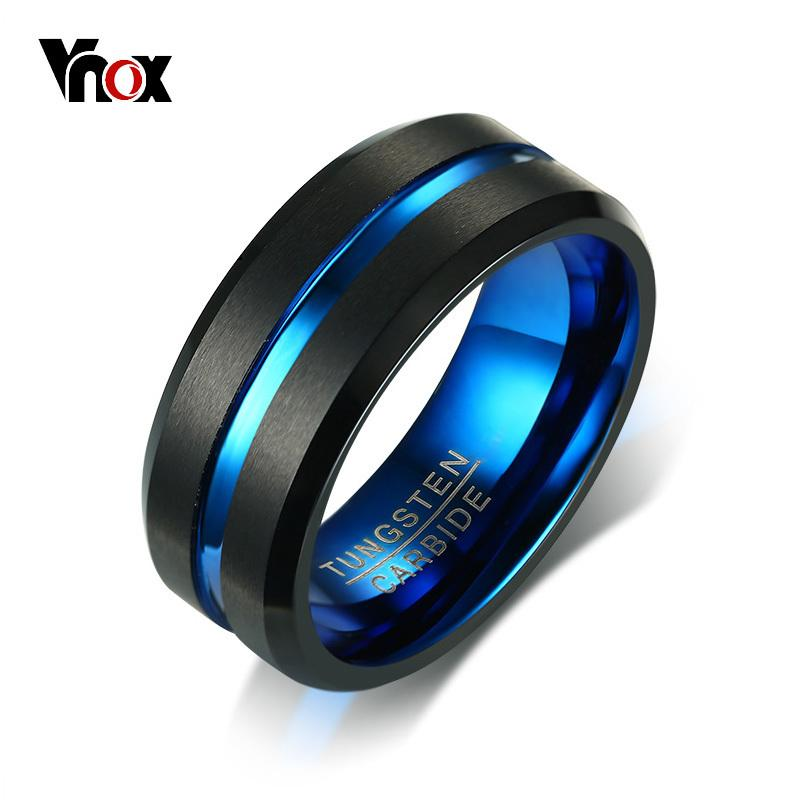2019 Whole Salevnox 8mm Tungsten Carbide Wedding Band For Men Ring