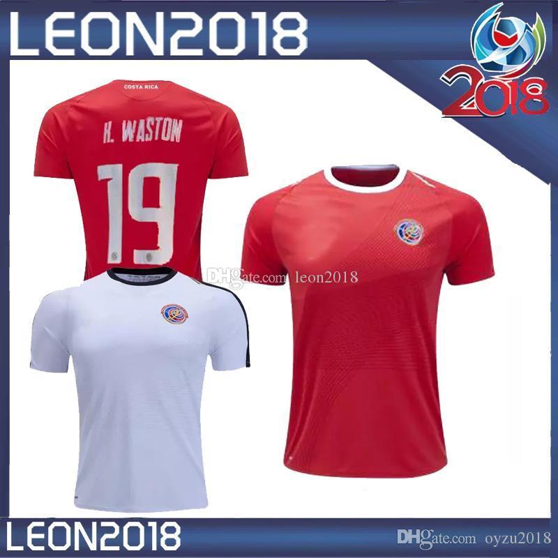 Thai Quality 2018 World Cup Costa Rica Soccer Jerseys Home Away ... b8d9df367
