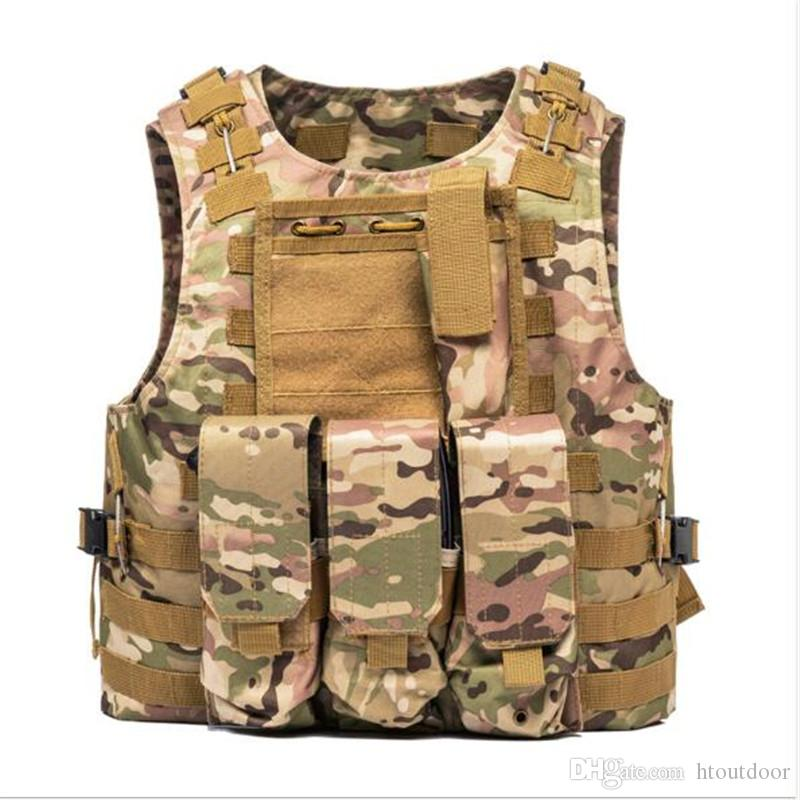 Security & Protection Punctual Men Military Tactical Vest Military Molle Combat Assault Plate Carrier Vest Cs Outdoor Security Clothing Jungle Hunting Vest New