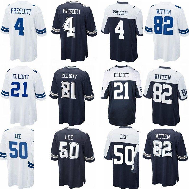 56651dfa2a1 2019 Cowboys Jersey 4 Dak Prescott 21 Ezekiel Elliott 50 Sean Lee 82 ...