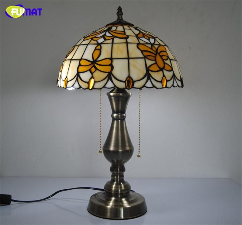 2019 Fumat 12 Table Lamps Tiffany Lily Flowers Stained Glass Table