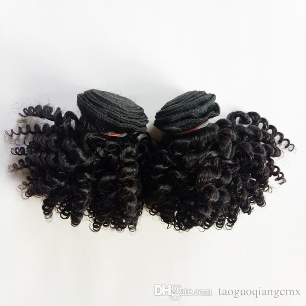 البرازيلي العذراء ريمي الإنسان الشعر مثير شعبية قصيرة نمط بوب الجمال 8-12inch الهندي الماليزي غريب مجعد الشعر ريمي لحمة مزدوجة