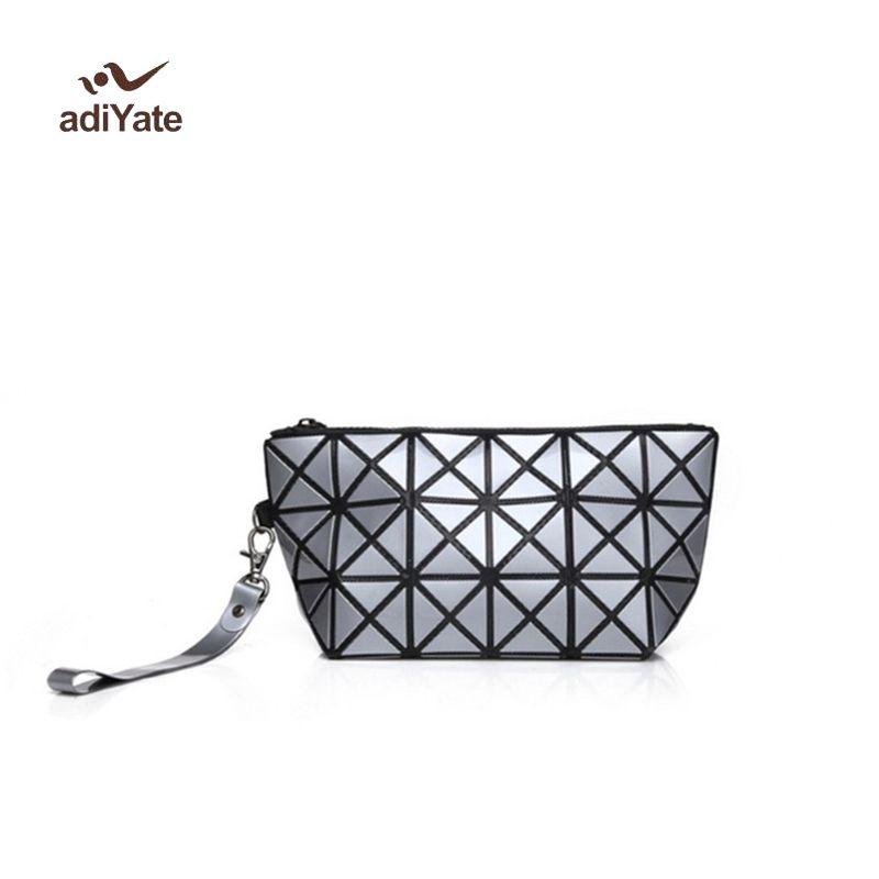 Cheap Fashion Geometric Zipper MakeUp Quilted Makeup Bag Luxury ... 072bdb3cf7fac