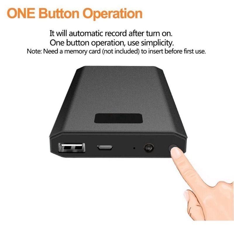 10000mAh Power Bank Mini Camera with Digital Display 1080P HD Night Vision Mobile Power Supply Security camera Motion Detection Mini DV DVR