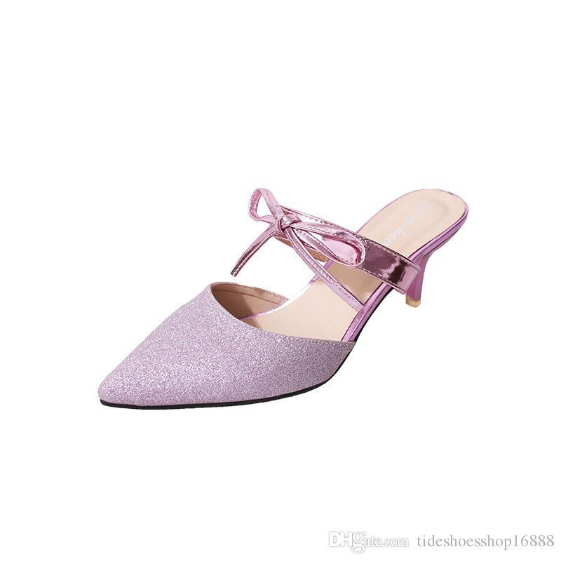 Glitter Material Shoes Woman High Heels Summer Sandals Pumps Ladies Shoes  Thin Heels Party Luxury Shoes Women Designers Sandalen Ladies Sandals Girls  ... 4ecd41deaf40