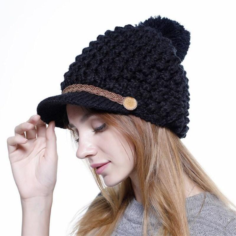 2dab92edae1 Seioum High Quality Knitting Wool Hats Pompon Bobble Hats Women Skullies  Beanies Warm Hat Autumn Cap Winter Female Knit Hats Cheap Hats From  Navyjewelry