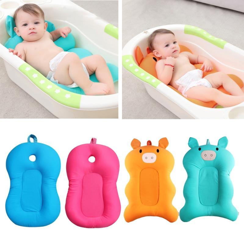 2018 Yas Newborn Baby Foldable Bath Tub Pad Chair Shelf Seat Infant ...