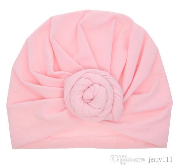 Bebé Top Knot Turbante rosa sombrero Toddler Turbante suave estilo vintage Retro Accesorios para el cabello niñas niños Head wrap LC697