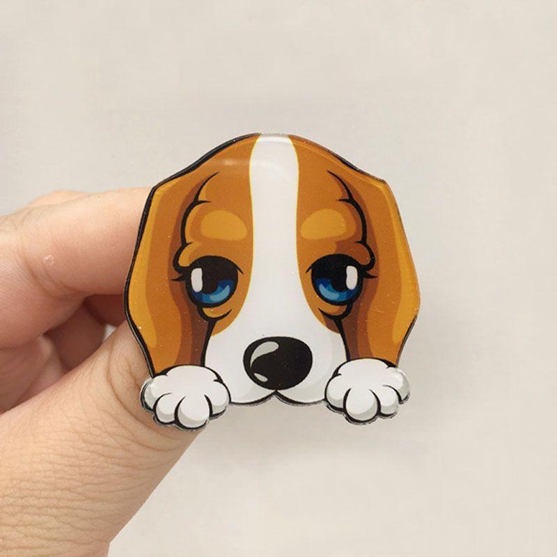 Hot Cute Cartoon Animal Brooches Husky Pet Acrylic Collar Badge Fashion Funny Charm Gift