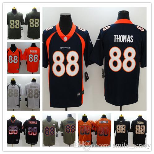 the best attitude e94ad 204db 2019 New Mens 88 Demaryius Thomas Denver Broncos Jerseys 100% Stitched  Embroidery Broncos Demaryius Thomas Color Rush Football Jerseys