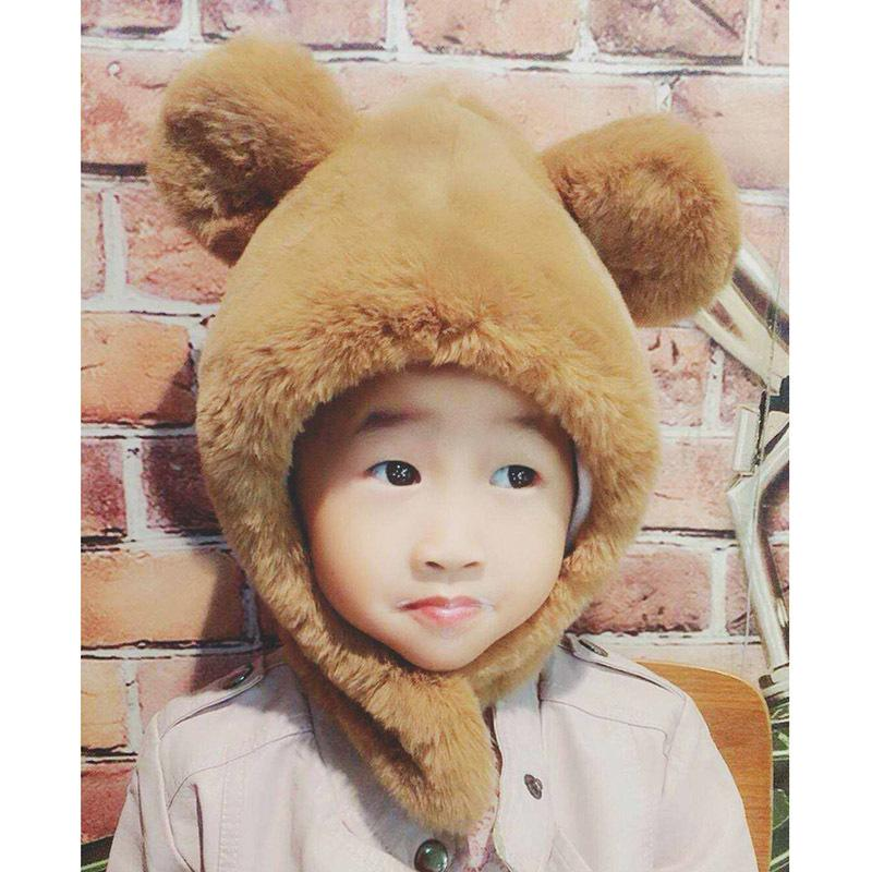 431d16457c7 2019 Kids Winter Fox Fur Hat Warm Rabbit Hair Beanie Children Pompom  Beanies Boys Girls Cap Hats Bonnet Hiver Pink Black Skullies From  Miaoshakuai