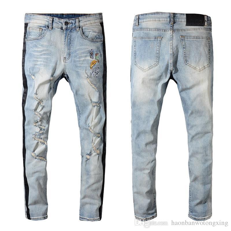 Acheter 2019 Hommes Célèbres Marque Hole Jeans Style Style Nouvelle Arrivée  Grande Taille Bikers Jeans Bonne Qualité Homme Déchiré Jean Denim Men Pants  De ... 9f19e960bb75