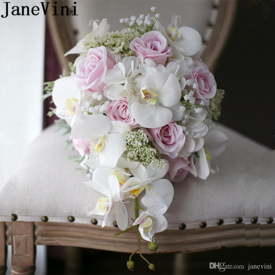 Janevini 2018 Waterfall Artificial Phalaenopsis Wedding Flowers