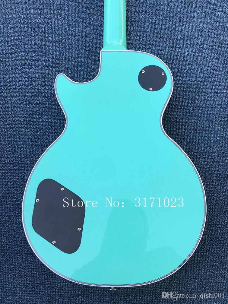 New Arrival Custom Shop 1960 Corvette Light blue electric guitar,symbol of Footsteps music fingerboard,OEM,