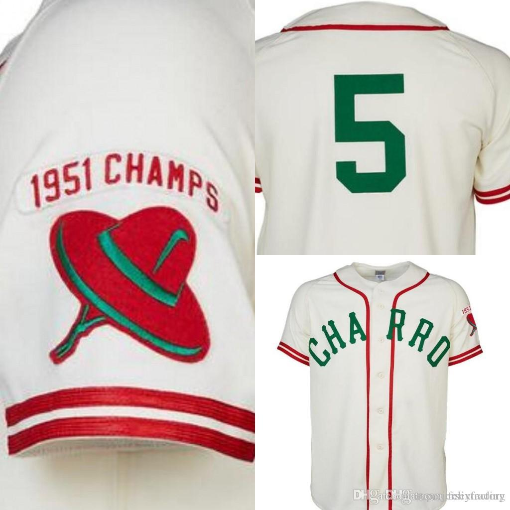 99bcd7af1 2019 Brownsville Charros 1951 Home Jersey Any Player Or Number Stitch Sewn  All Stitched High Quality Baseball Jerseys From Superjerseyfactory