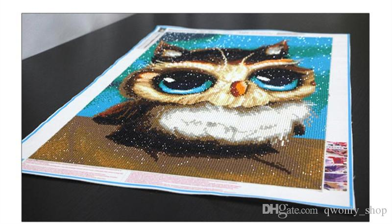 Fashion DIY Diamond Painting Cute Owl Special Shaped Diamond Embroidery Cross Stitch Bead Picture Wall Painting Home Decor