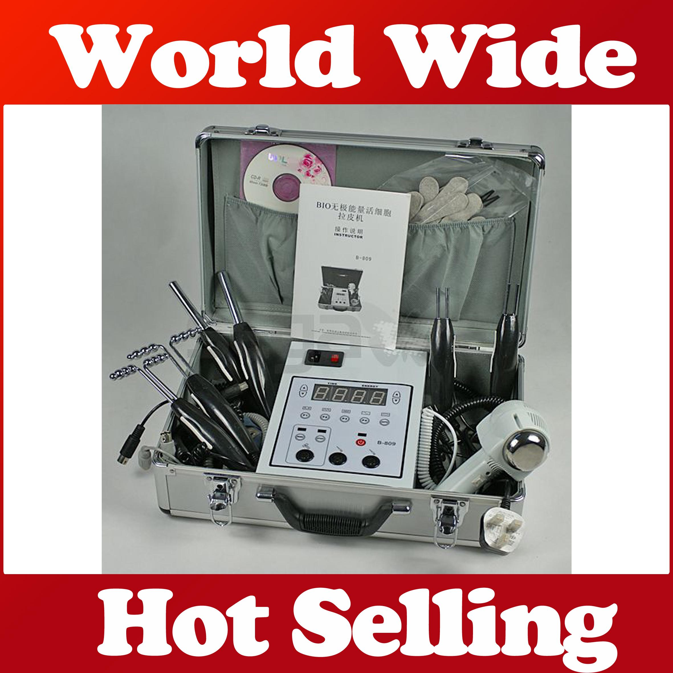 Suitcase Easy portable Microcurrent Bio Face Lift beauty device Salon Skin Toning Facial care Bio hot cold hammer Galvanic Set machine
