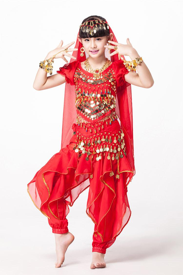 7b282ef23 2019 Stage Wear Belly Dancing Children Indian Dance Set Costume Top ...