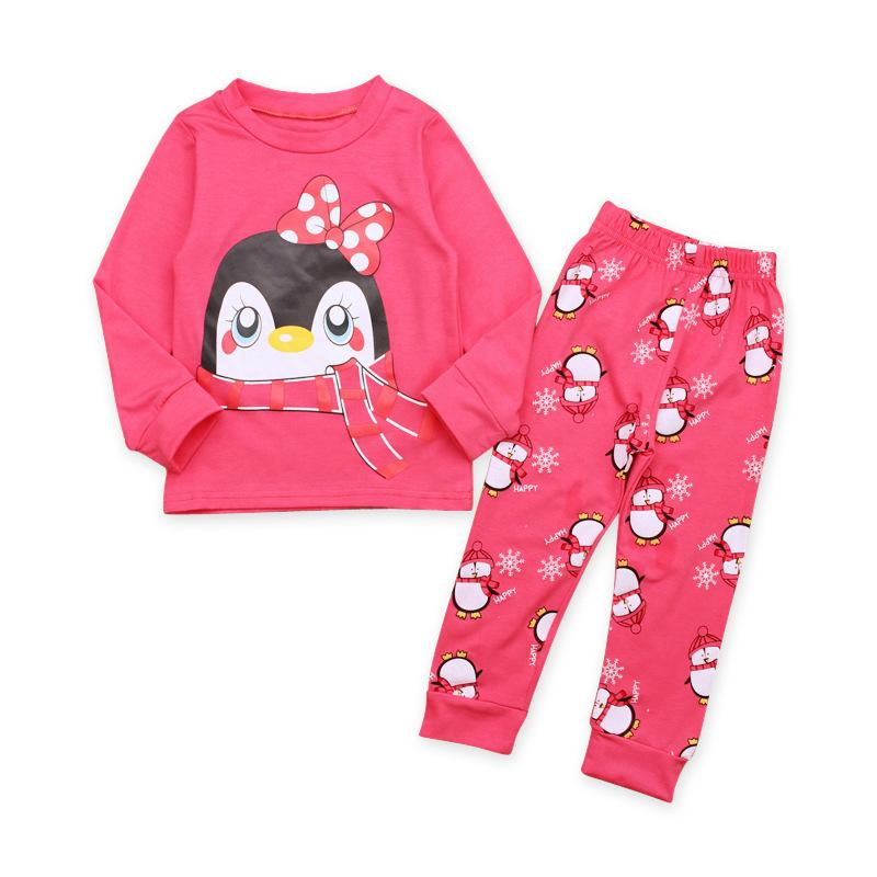 9e5dab7684c1 Autumn Kids Clothes Children Long Sleeve Cartoon Penguin T Shirt + Pants  Casual Children Homewear Sets Cotton Girls Set Boys Pajamas Christmas  Pajamas For ...